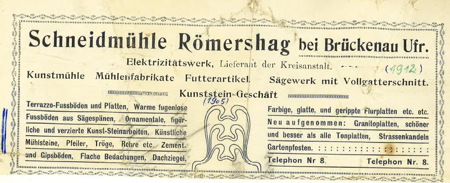 Briefkopf mit Telefonnummer