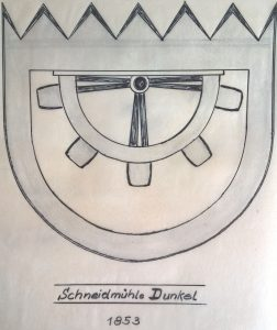 Wappen Schneidmühle 1853