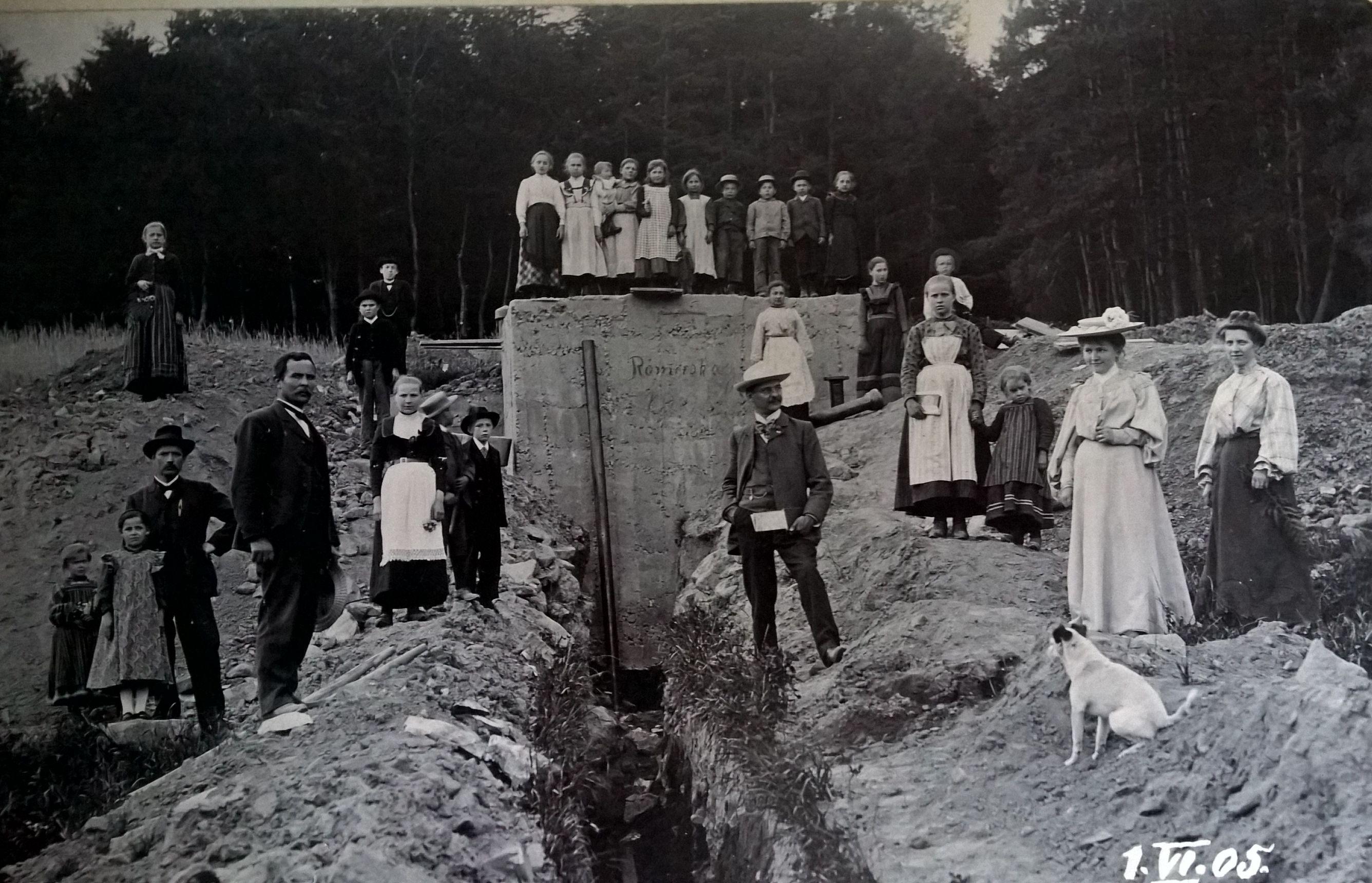 Einweihung Wasserleitung Römershag 1905