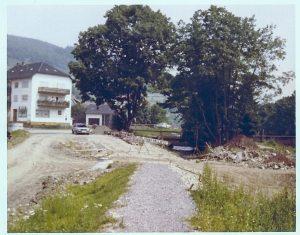Nach Abriss 1977 Blick auf neues Haus Gerhard