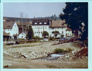 Nach Abriss 1977 Blick ins Geviert des ehem Gutshofes