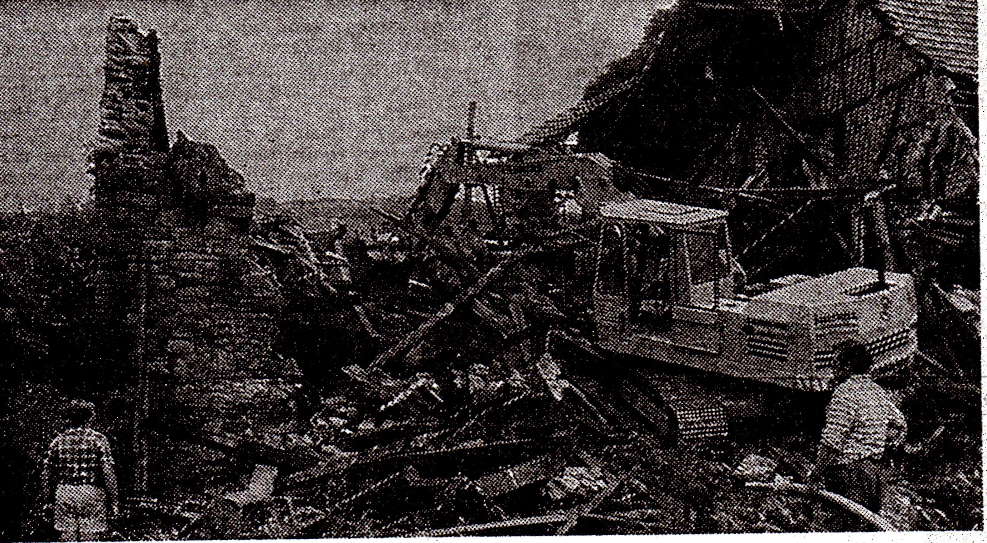 Abriss Mühle im Brückenauer Anzeiger, Foto Renner