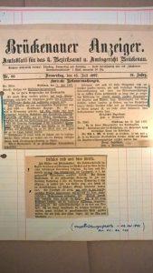 Brückenauer Anzeiger 15.07.1897 Wassernutzung