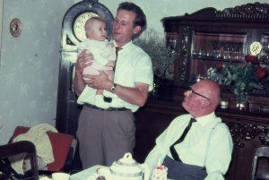Edgar Kuther mit Tochter Brigitte und Eugen Kuther 1964