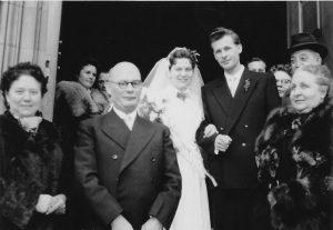 Hochzeit Gertrud und Edgar Kuther 1955