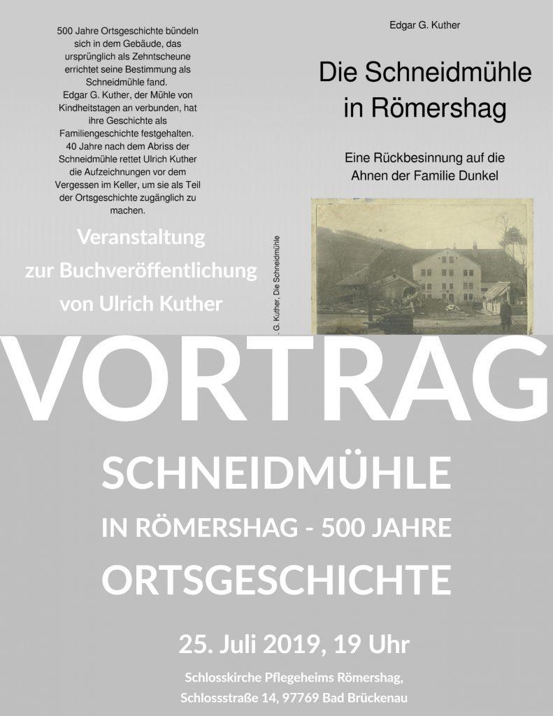 Herzliche Einladung zum Vortrag in Römershag
