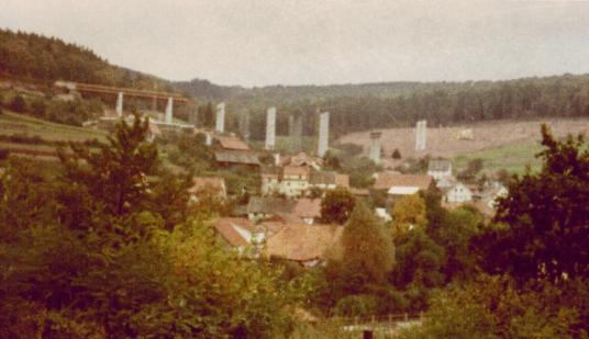 Römershag 1965 Bau Talbrücke A7 © Dr. Kurt Schunck
